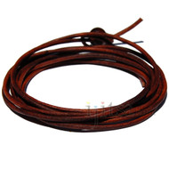 2mm Antique brown leather adjustable wrap bracelet