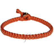 Grapefruit flat cotton bracelet or anklet