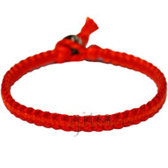 Red and indies orange flat cotton bracelet or anklet