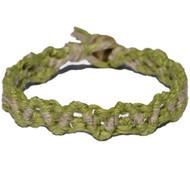 Pictachio and Natural hemp Lace bracelet