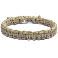 """1"""" Wide Thick Rough Flat Hemp Necklace"""