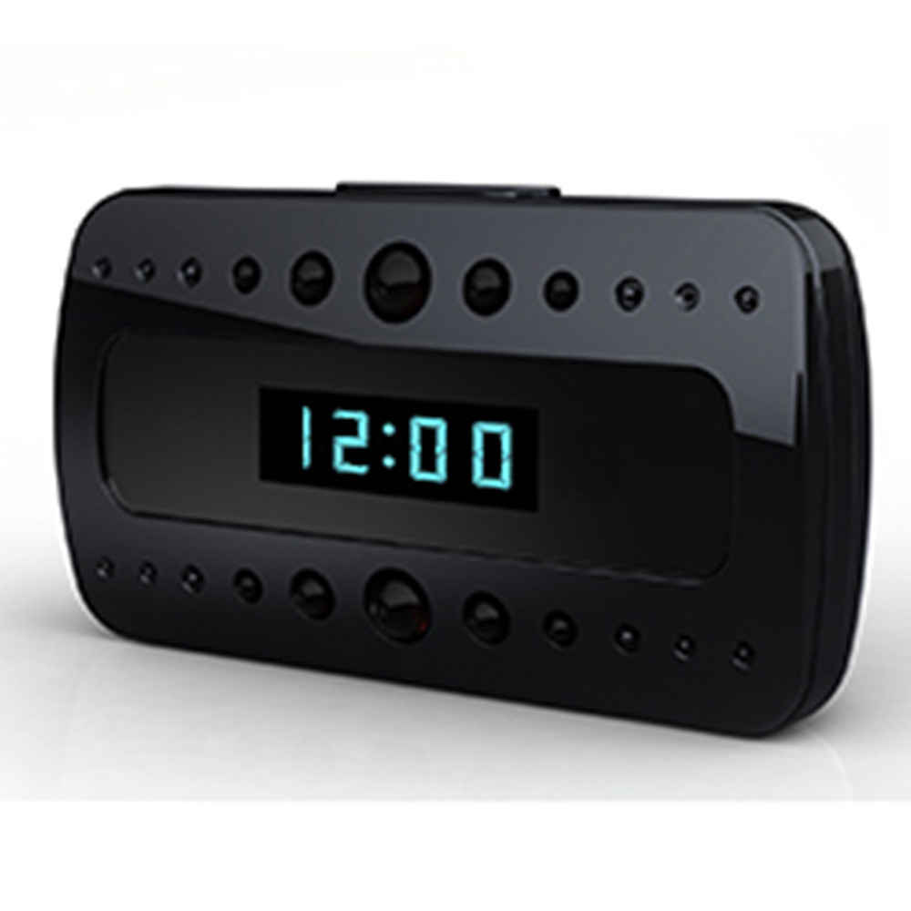 Wi-Fi Nanny Cam Hidden Alarm Clock  W/ Wifi Dvr And Night Vision 1920x1080 -  Wireless Streaming Video/ Mobile Viewing/SD Card Recording