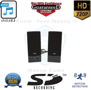 Computer Speakers Nanny Cam with Built-In 720P Hd VR Recorder