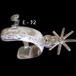 Espuela Charra Fina - Stainless Steel - RRIMP-E-32