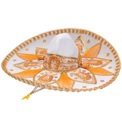 Sombrero Charro de Terciopelo Decorado - Azul y Oro -  RRIMP-71154