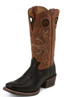 Tony Lama Men Boots - 3R Collection - Black Mustang - RR9001