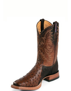 Tony Lama Men Boots - USTRC Collection - Coffee Full Quill Ostrich - RR8998