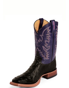 Tony Lama Men Boots - USTRC Collection - Black Full Quill Ostrich - RR8996