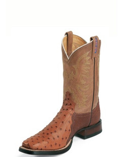 Tony Lama Men Boots - USTRC Collection - Peanut Brittle Full Quill Ostrich - RR8997