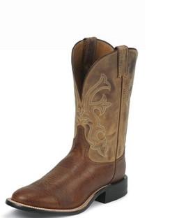 Tony Lama Men Boots - Americana Collection - Cognac Conquistador Shoulder - RR7941
