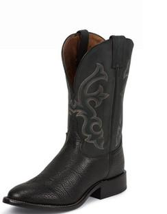 Tony Lama Men Boots - Americana Collection - Black Conquistador Shoulder - RR7939