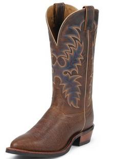 Tony Lama Men Boots - Americana Collection - Cognac Conquistador Shoulder - RR7950