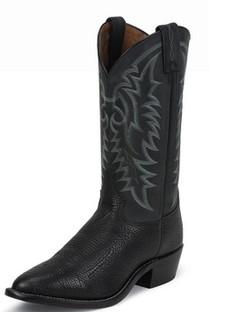 Tony Lama Men Boots - Americana Collection - Black Conquistador Shoulder - RR7936