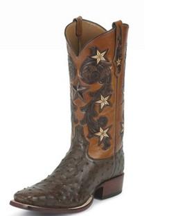 Tony Lama Men Boots - Signature Series - Tabacco Cowboy Classic Ostrich - 1005