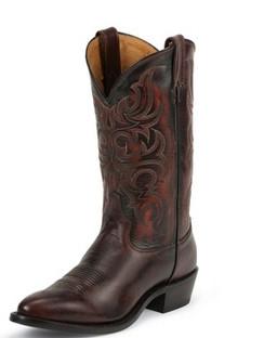 Tony Lama Men Boots - Americana Collection - Peanut Antique Regal Calf - RR7924