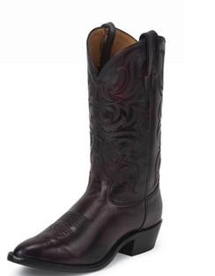Tony Lama Men Boots - Americana Collection - Black Cherry Antique Regal Calf - RR7923