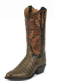 Tony Lama Men Boots - Signature Series - Pecan Belly Antique Caiman - 1000