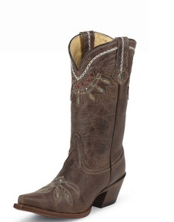 Tony Lama Women Boots - 100% Vaquero - Chocolate Rancho - RRVF6015