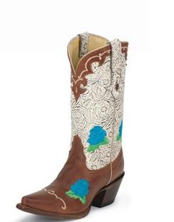 Tony Lama Women Boots - 100% Vaquero - Peanut Sienna - RRVF6014