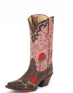 Tony Lama Women Boots - 100% Vaquero - Moka Sienna - RR-VF6013