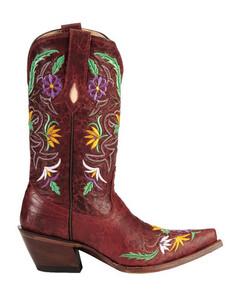Tony Lama Women Boots - 100% Vaquero - Sangria Khloe - RRVF6012