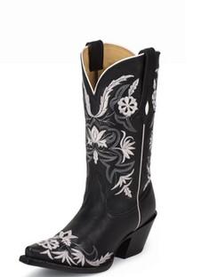 Tony Lama Women Boots - 100% Vaquero - Black Vail - RR-VF6011