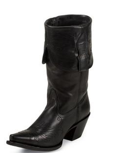 Tony Lama Women Boots - 100% Vaquero - Black Vail - RR-VF3020