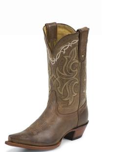 Tony Lama Women Boots - 100% Vaquero - Honey Saguaro- RR-VF6008