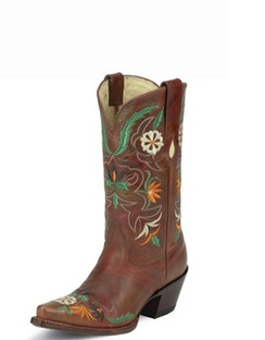 Tony Lama Women Boots - 100% Vaquero - Cinnamon Khole - RRVF6010