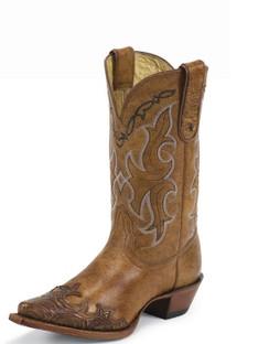 Tony Lama Women Boots - 100% Vaquero - Tan Santa Fe - RR-VF6003