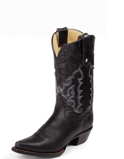 Tony Lama Women Boots - 100% Vaquero - Black Thoroughbred - RR-VF6000
