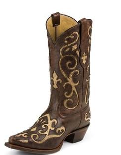 Tony Lama Women Boots - 100% Vaquero - Earth Santa Fe - RR-VF3024