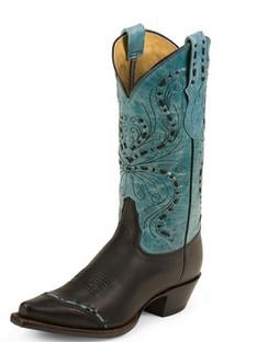 Tony Lama Women Boots - 100% Vaquero - Black Vail - RR-VF3022