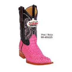 Los Altos Kid Boots - Horback Caiman - 3X Toe - Pink - RR-450225