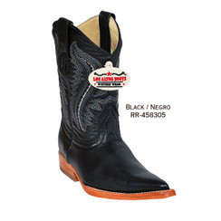 Los Altos Kid Boots - Deer - 3X Toe - Black - RR-458305