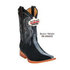 Los Altos Kid Boots - Stingray - 3X Toe - Black