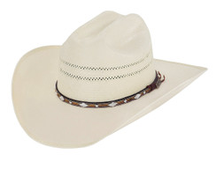 Larry Mahan - Straw Hat -10X - Brindle N
