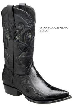 Cuadra Boots - Ostrich Leg - J Puntal - Black - RRB2PTAVBK