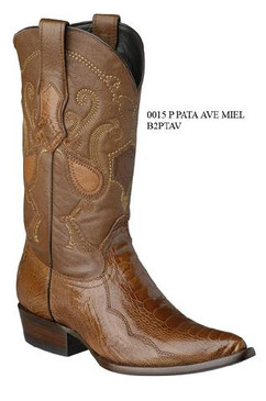 Cuadra Boots - Ostrich Leg - J Puntal - Honey - RRB2PTAVHNY