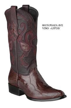 Cuadra Boots - Ostrich Leg - Semi Oval - Burgundy - RRA3PTAVBG
