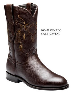 Cuadra Boots - Deer Leather - Roper - Brown - RRC3VENIBW