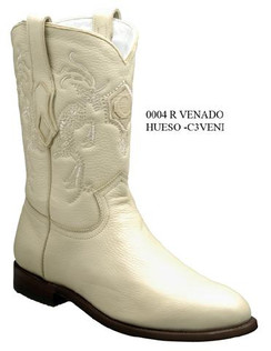 Cuadra Boots - Deer Leather - Roper - Winter White - RRC3VENIWWH
