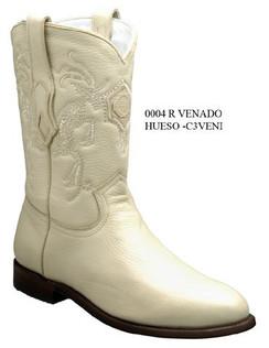 Cuadra Boots - Deer Leather - Roper - Winter White - RRC3VENIWWH