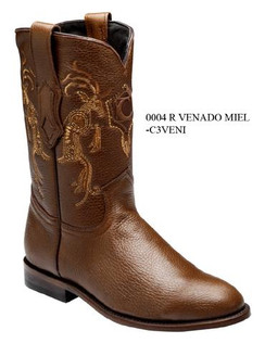 Cuadra Boots - Deer Leather - Roper - Honey - RRC3VENIHNY