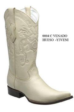 Cuadra Boots - Deer Leather - Chihuahua - Winter White - RRY3VENIWWH