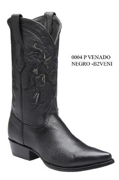 Cuadra Boots - Deer Leather - J Puntal Toe - Black - RRB2VENIBK