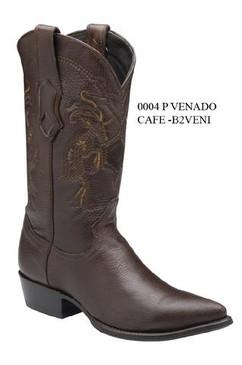 Cuadra Boots - Deer Leather - J Puntal Toe - Brown - RRB2VENIBW