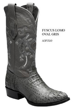Cuadra Boots - Full Quill Ostrich Leather - Semi Oval - Grey - RRA3FULOGRY