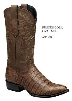 Cuadra Boots - Full Quill Ostrich Leather - Semi Oval - Honey - RRA3FUCOHNY