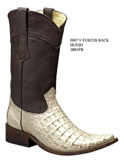 Cuadra Boots - Full Fuscus Caiman Belly - Versace Toe - Hueso -  RR1B01FBWWH
